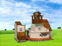 卡通房子,民房3d模型