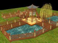 凉亭场景3D模型