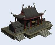 兰若寺,古代残破寺庙3D模型