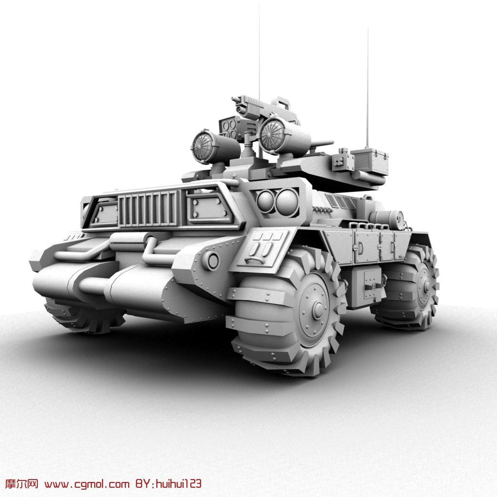 酷炫坦克,装甲车maya模型,装甲车,军事模型,3d模型高清图片