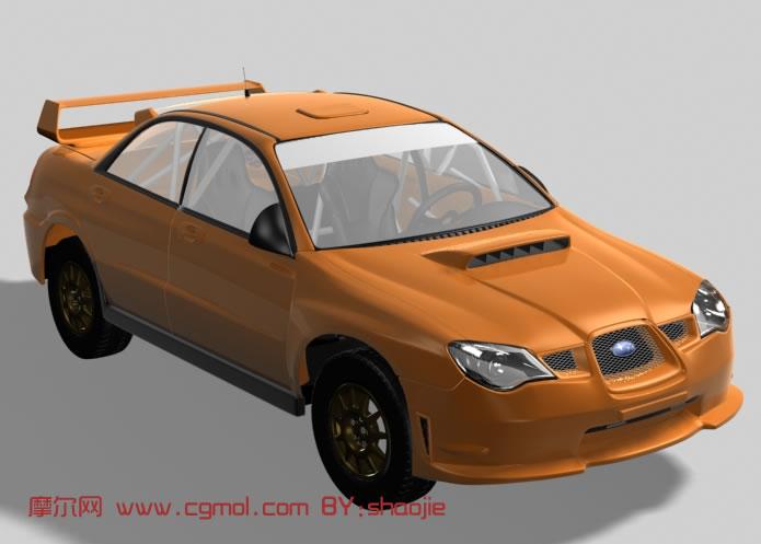 斯巴鲁汽车展台,360°动画展示3d模型