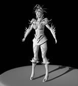原创游戏人物maya模型