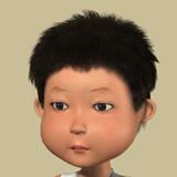 精细卡通小孩头部maya模型