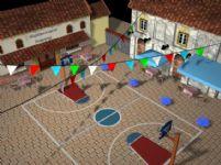 篮球场maya模型