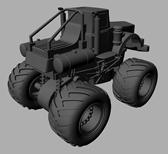 拖拉机,四驱车maya模型