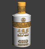 五粮液酒瓶3d模型