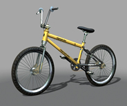 精细自行车maya模型