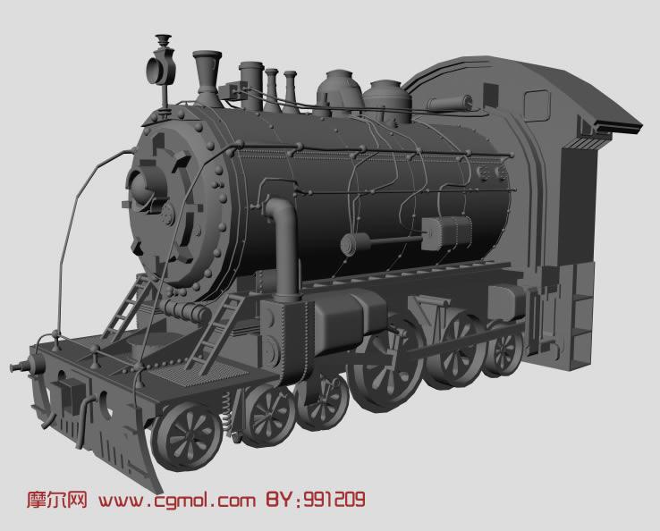 火车头3d模型