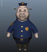 卡通猪maya模型