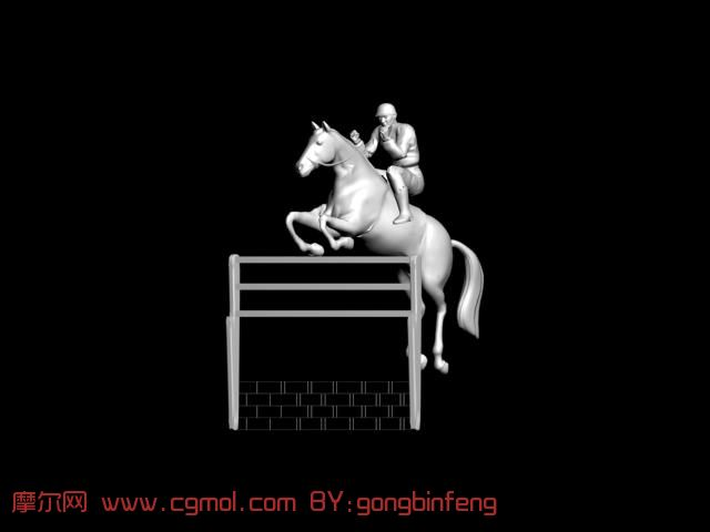 跳马运动3d模型