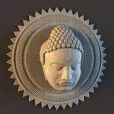 佛像,佛头雕塑3D模型