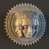 印度教主神梵天,佛像雕塑3D模型