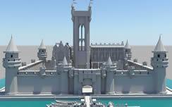 城堡,教堂,欧美建筑3D模型