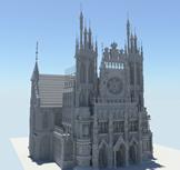 高精度教堂maya模型