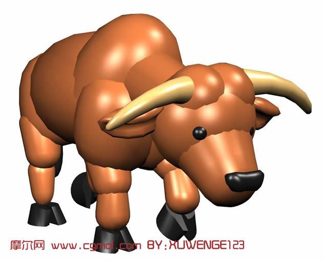 牛3d模型,哺乳动物,动物模型