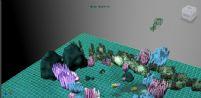 海下的小场景maya模型,很精致哦~~