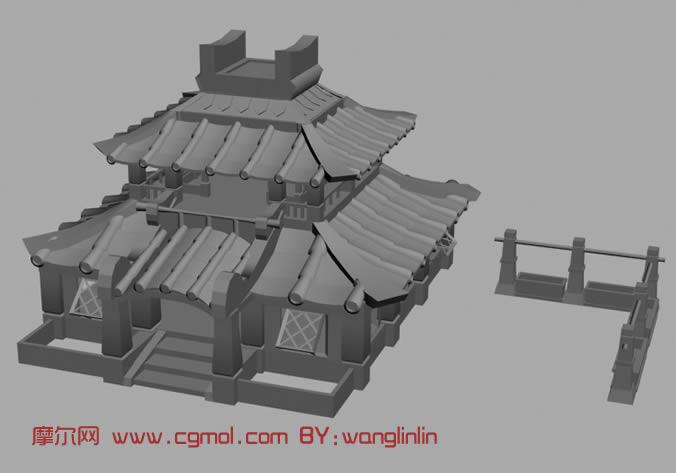 古代房屋3d模型