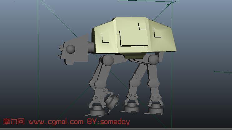 建模   手持武器的机器人maya模型下载! - 机械模型区   简单高清图片