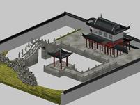 古代场景建筑3D模型