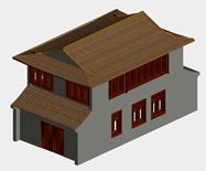 民宅,古代建筑3D模型