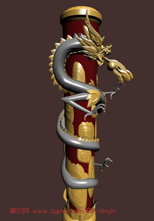 盘龙柱子3d模型
