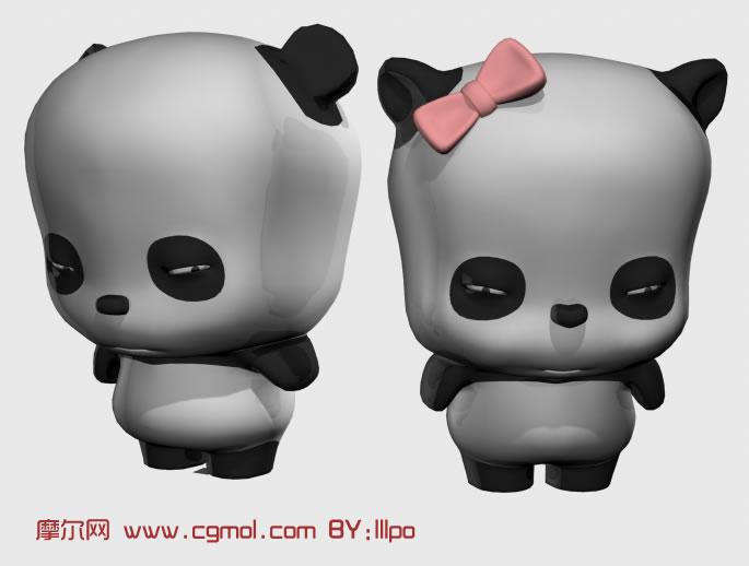又可爱又囧的小熊猫maya模型高清图片