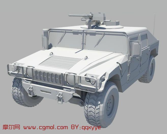 军用悍马maya模型