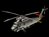 3D直升机模型