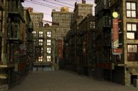 场景街道3D模型