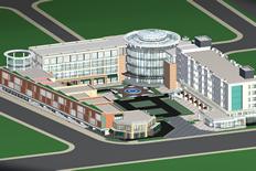 大型酒店,商城建筑场景3D模型