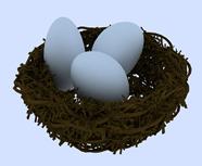 鸟巢,鸟窝,景观雕塑场景3D模型