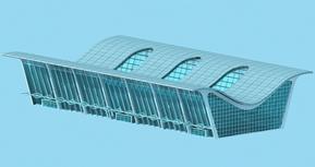 南通机场,现代建筑3D模型