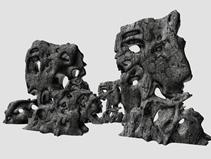 太湖石,假山,雕塑,艺术品3D模型