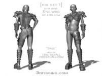 女战士maya模型(已绑定)
