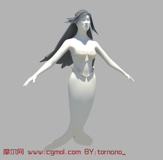 美人鱼maya模型