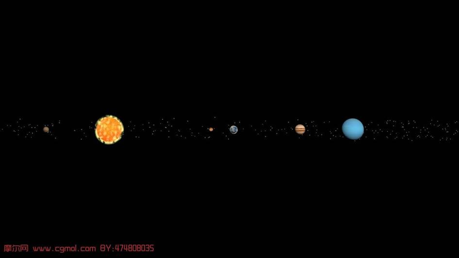 关键词:太阳系 行星 地球 月球