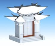 白族门头3D模型