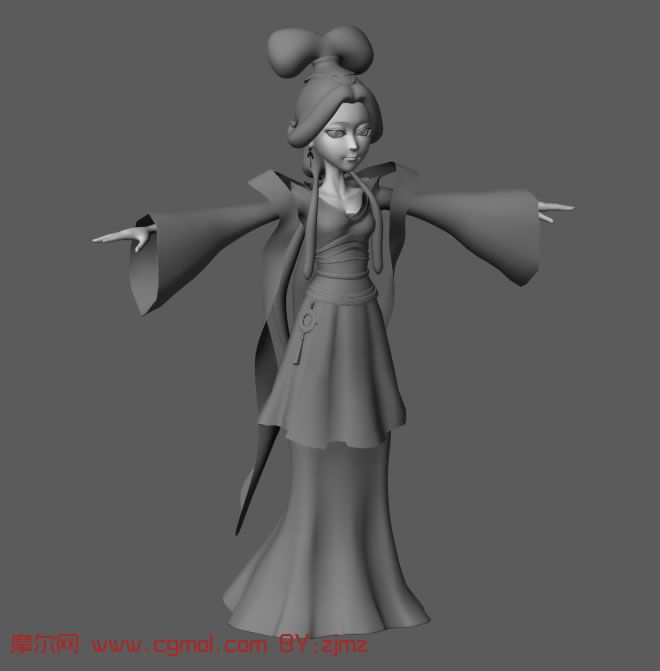 from 古代女人,漂亮mm,maya人物模型http 高清图片