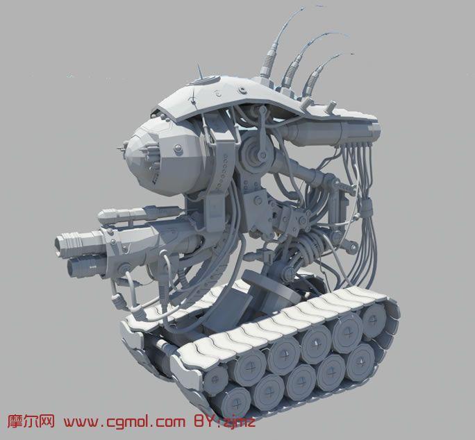 超酷未来战争机器人maya模型,机械角色,机械模 高清图片