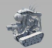 超酷未来战争机器人maya模型