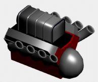 轮船引擎3D模型