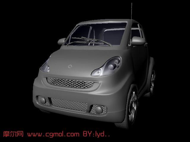 smart小汽车maya模型
