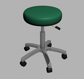 医院专用凳子,可移动的凳子3D模型