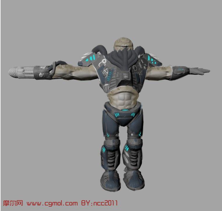 机器人maya模型,机械角色,机械模   maya机器人建模带骨骼绑高清图片
