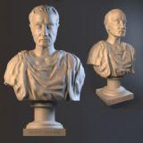 凯撒大帝石膏头像3D模型
