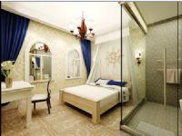 地中海清新风格卧室3D模型
