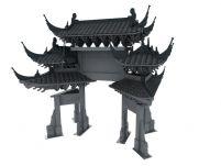 牌坊,3D古代建筑模型