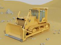 3D推土机模型