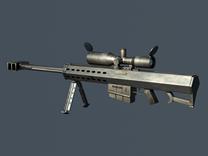 巴雷特5.0mm大口径狙击步枪3D模型