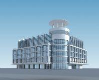 商业楼,商业广场,3D建筑模型